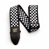 Ernie Ball Black and White Checkered Jacquard Guitar Strap