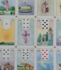 Lenormand Wahrsagekarten weiße  Eule Kartendeck 36 Karten