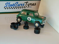 16  URETHANE tyres SCALEXTRIC mini Cooper - UK