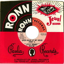 LITTLE JOHNNY TAYLOR 45:  Open House At My House Part 1 and 2  1972  Ronn 64  EX