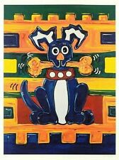 "Lisa Grubb-""Dog with Bone""-Limited Edition Giclee/Paper/Hand Signed/LOA/30""x 40"""