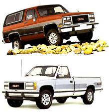 1990 GMC TRUCK BROCHURE -SIERRA-SONOMA-JIMMY-SUBURBAN-SAFARI-RALLY-CARGO