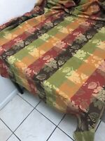 "Williams Sonoma Acorn Harvest Floral Jacquard Tablecloth Multicolor 58X84"" EUC"