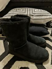 UGG WOMENS BAILEY BOW II BLACK BOOTS SIZE 10