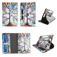 """tablet case for 8 inch universal 8"""" 8inch android Cover Style Rainbow Tree"""