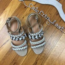 Rebecca Minkoff Leila Beaded Strappy Boho Sandals Shoes 6.5
