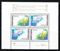 Portugal 1978 MNH Mi Block 24 Sc 1408-1409 Universal Declaration of Human Rights