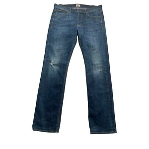 hudson byron straight Distressed jeans mens size 36
