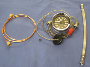 NEW MG MGB DUAL OIL WATER GAUGE INC COPPER PIPE AND FLEXI OIL HOSE CENTIGRADE