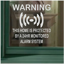 1 x  HOME Protected Security Sticker-Monitored 24hr Alarm System Warning Sign