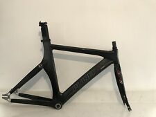 Planet X Track Frame Black Carbon Fibre Medium Easton EC90 Forks W. BB + Headset