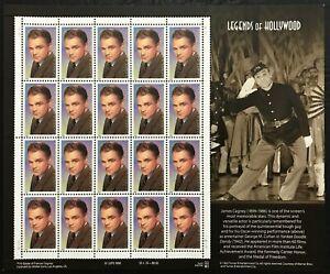 1999 Scott #3329 - 33¢ James Cagney - Legends of Hollywood - Sheet of 20 - MNH