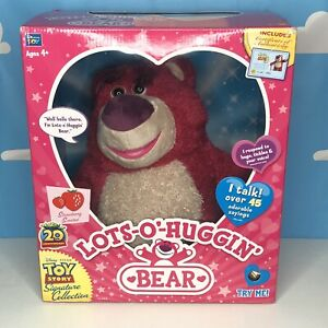 Disney Toy Story Lots-O-Huggin Lotso Bear Signature  Collection Box Certificate