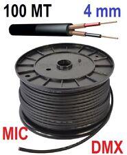 😍 MATASSA CAVO BOBINA PER DMX MICROFONICO 100 MT. SCHERMATO SEGNALE sez. 4mm