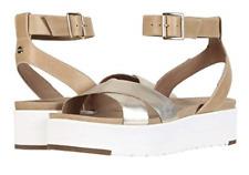 UGG Tipton Metallic Gold Ankle Strap Sandal Women's sizes 5-11/NEW