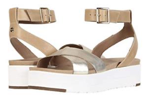 UGG Tipton Metallic Gold Ankle Strap Sandal Women's sizes 5-11/NEW!!!