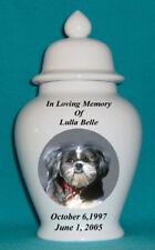 "8"" Photo Picture Pet Dog Cat Cremation Memorial Urn Personalized"