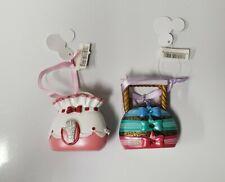 Set of (2) Disney Parks Purse Ornaments-Mary Poppin, Sleeping Beauty Nwt