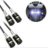 4pcs white led smd motorcycle & car license plate screw bolt Light lamp bulbBB