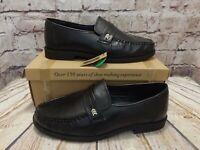 Mens Cushion Walk LJ812 Black Slip On Formal Shoes VARIOUS SIZES! NEW! WIDE!