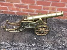 Vintage Solid Brass Large Cannon Old Cannon