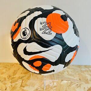 Nike Strike Premier League 2021-22 Size 5 Football Soccer Ball Orange Black New