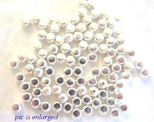 100 Bright Silver Plated Roundish Square Beads 3MM