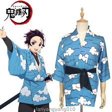 Cosplay Costume Haori Coat Demon Slayer: Kimetsu no Yaiba Kamado Tanjirou Kimono
