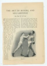 The Art of Boxing & Self Defense 1911 Prof. W.F. Lee vintage  great graphics