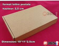 lot de Boite postale carton hauteur 2,5cm expédition format lettre extra dur
