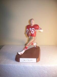 Joe Montana San Francisco 49ers Salvino Red Jersey Signed Figurine