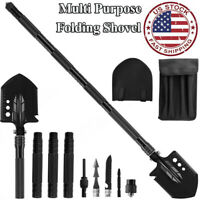 Military Survival Folding Shovel Outdoor Camping Tactical Emergency Gear Tool