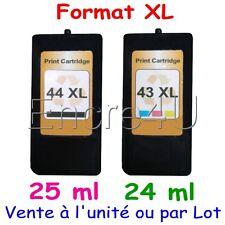 Cartouches d'encre remanufacturées Lexmark 44 XL et 43 XL ( Noir / Couleurs )