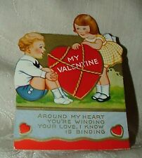 1930s Valentine ROPE Around My Heart You're Winding Your Love I Know is Binding