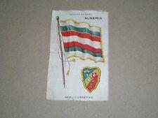 "NEBO TOBACCO SILK  ALGERIA FLAG & COAT OF ARMS  4-3/4"" X 3"""