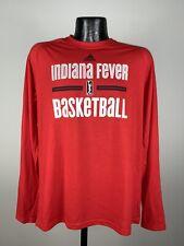Men's Adidas Indiana Fever Red Long Sleeve Graphic Logo Shirt WNBA NWOT M