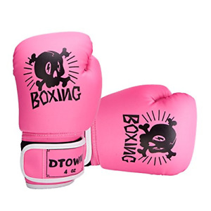 Kids Boxing Gloves 4oz Training Gloves for Toddler and Youth Age 3 to Pink