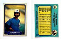 Jerry Manuel Signed 1982 Fleer #195 Card Montreal Expos Auto Autograph