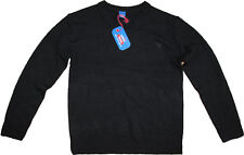 Adams Boys School Uniform Jumper Cotton Rich V Neck in Black