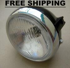 """Honda MT125 XL125 XL175 XL250 XL350 Headlight & Case & Socket 6"""" - FREE SHIPPING"""