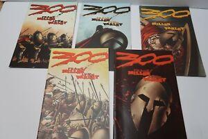 FRANK MILLER 300 #1 2 3 4 5 Complete SERIES RUN 1998 Dark Horse Comics SPARTANS