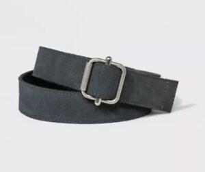 Men's Suede Belt - Goodfellow & Co - Gray Medium M