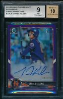 JARRED KELENIC AUTO 2018 Bowman Chrome PURPLE REFRACTOR #/250 RC BGS 9/10 MINT