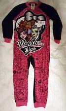 NEW GIRL'S MONSTER HIGH ZIPPERED BLANKET SLEEPER SIZE XS 4/5 one piece Pajama