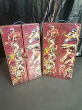 (2) 1970's Vintage Topps Super Sports Cards Locker Case Baseball Football Lot
