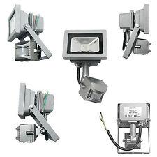 Motion Sensor IP44 LED Energy Saving Cool White PIR 10w Outdoor Flood Light 100w