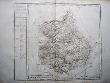 RIESIGE LANDKARTE FRANKREICH DEP. DE L'EURE ET LOIRE 1790 KUPFERSTICH D'HOUDAN