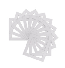 Pack of 5 White  Square Picture Photo Mounts/ Photo Frames Various Sizes