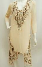 (Roberto) Just Cavalli feather Dress Kaftan Coverup UK8 IT40 New