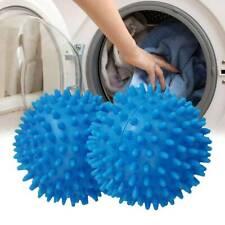 2Pc Blue Laundry Washing Tumble Dryer Balls Washing Helper Clothes Softener Set